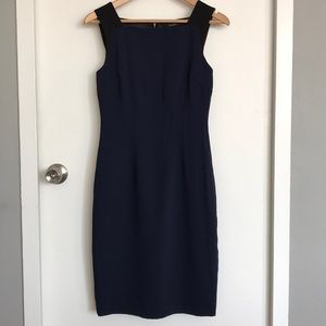 Tahari Elegant Navy Dress